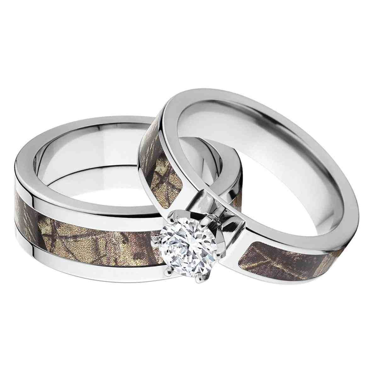 Top 10 New Post Unique Wedding Ring Sets For Him And Her Visit Wedbridal Site Camo Wedding Rings Sets Camo Wedding Rings Wedding Rings Sets His And Hers