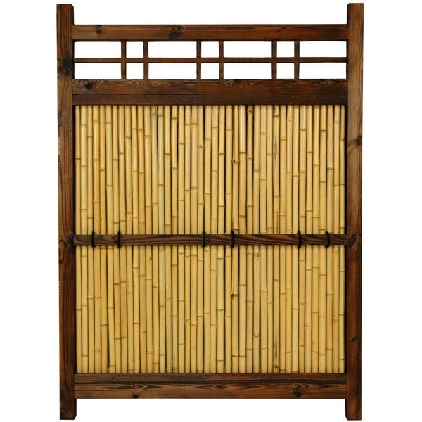 Japanese Bamboo Kumo Fence Featuring Polyvore, Home,. Outdoor Garden  DecorOutdoor GardensOutdoor IdeasFence GardenPrivacy ...