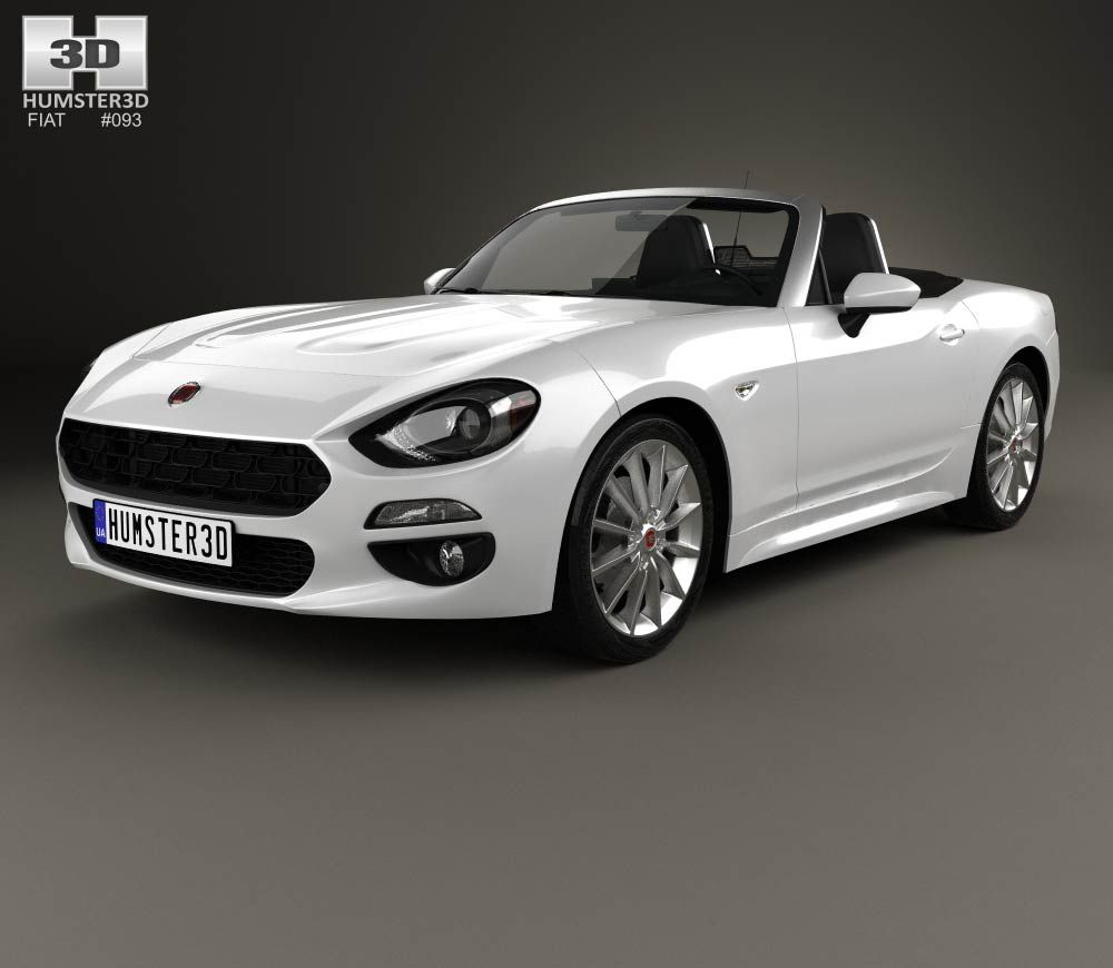 Fiat 124 Spider Convertible: Fiat 124 Spider 2017 3d Model From Humster3D.com.