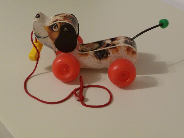 Fisher Price Dog Pull Toy Little Snoopy Pull Toy Old School