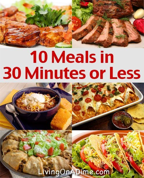 10 meals in 30 minutes or less quick and easy meals frugal meals 10 meals in 30 minutes or less quick and easy meals sisterspd