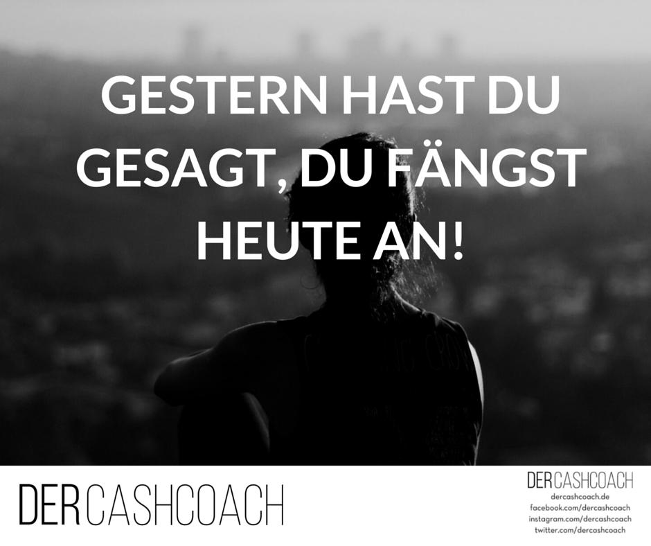 Tag für Tag Tipps, Tricks, Zitate und vieles mehr, was Dich beruflich und finanziell nach vorne bringt! www.dercashcoach.de