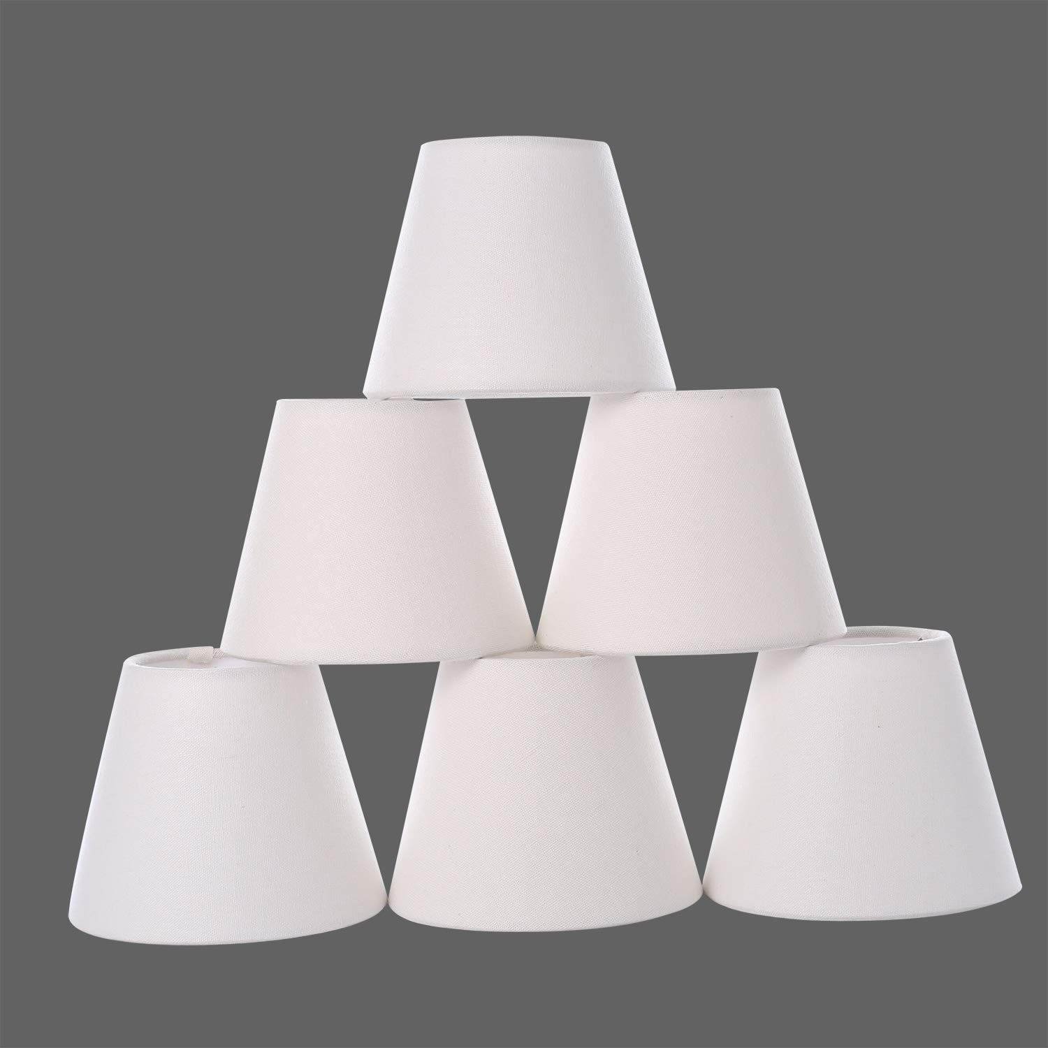 Chandelier Shades Small Lamp Shade Hardback Clip On Shades With White Linen Dia 3 5 Top X 5 Bottom Small Lamp Shades Chandelier Shades Chandelier Light Shade