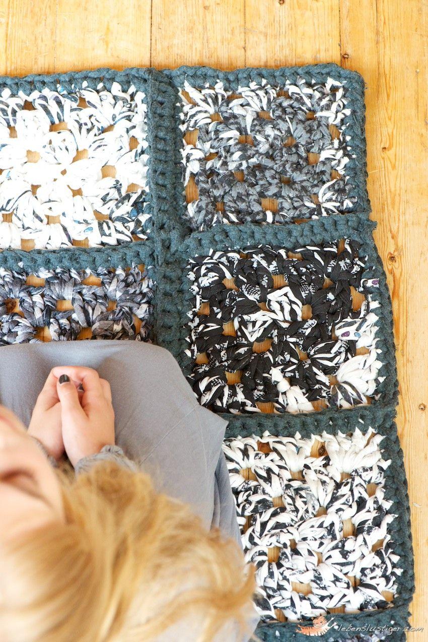 Granny Square Rag Rug Tutorial