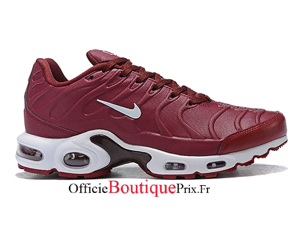 Nike Wmns Air Max Plus Tn Vin Rouge/Blanc Chaussure Nike ...