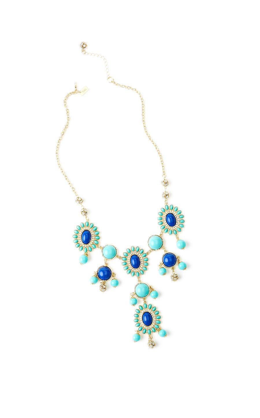 Dew Drop Necklace in Sapphire Blue