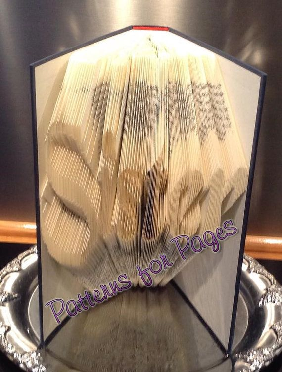 Book folding pattern for SISTER by PatternsForPages on Etsy