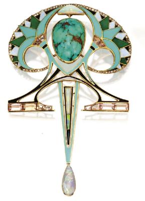 Art Nouveau pin.