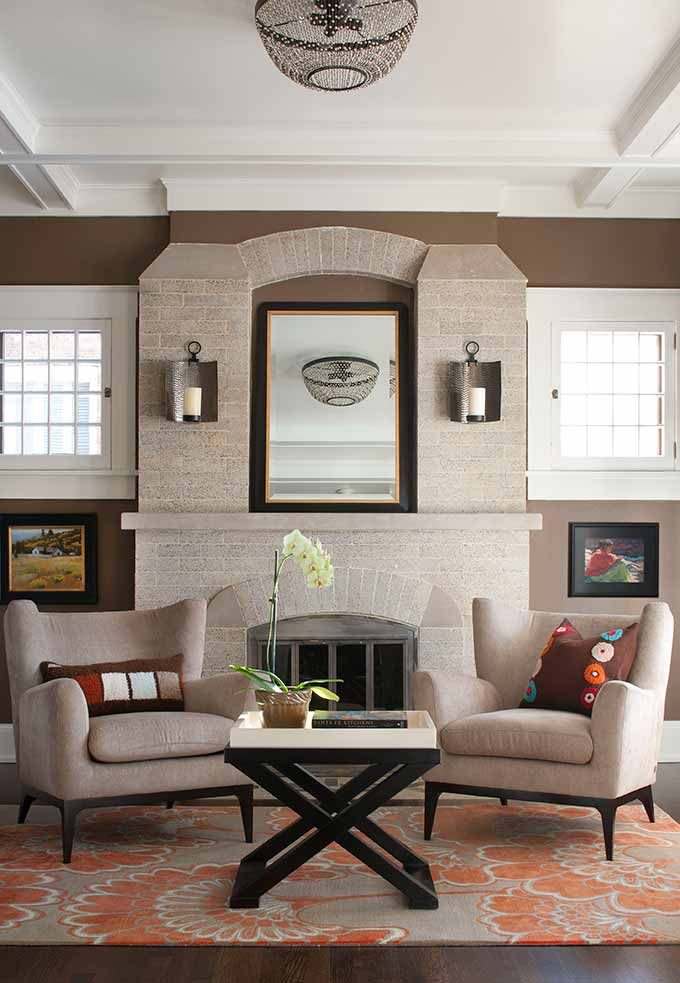Transitional Living Room Design: Park Hill Traditional With A Twist