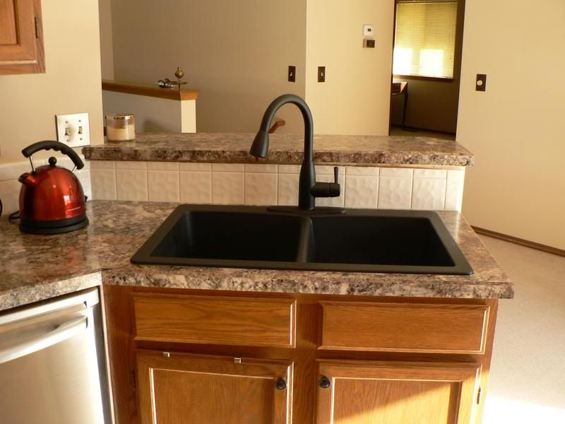 Formica Antique Mascarello With Black Sink And Black