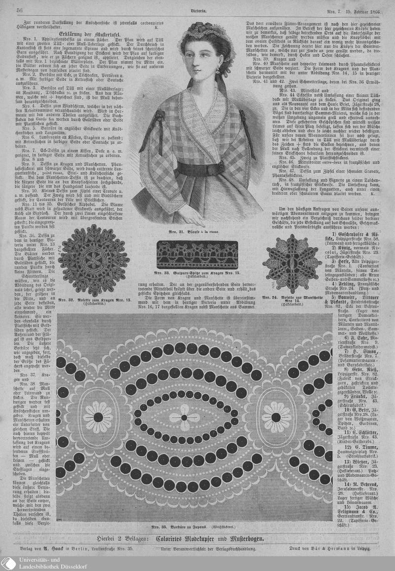 34 [56] - Nro. 7. 15. Februar - Victoria - Seite - Digitale Sammlungen - Digitale Sammlungen