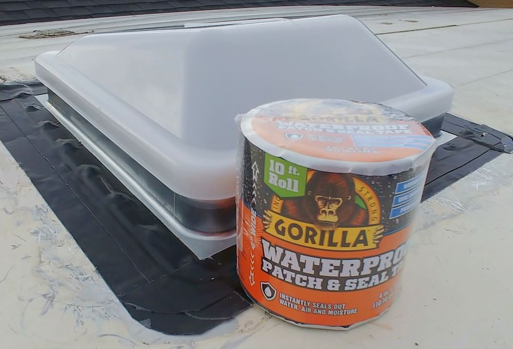 How To Replace An Rv Roof Vent With Gorilla Glue Waterproof Patch And Seal And A Giveaway Roof Roof Vents Roofing