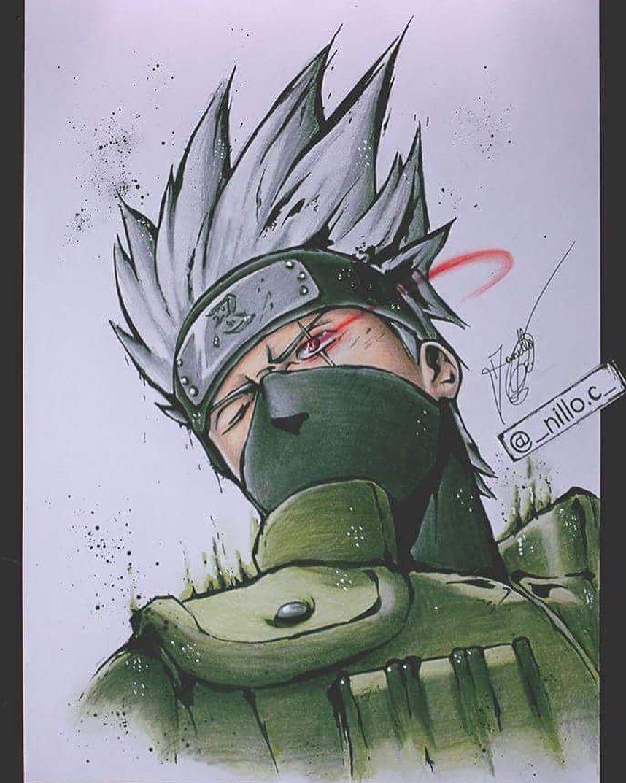 Kakashi Hatake• Anime drawing styles, Anime drawings