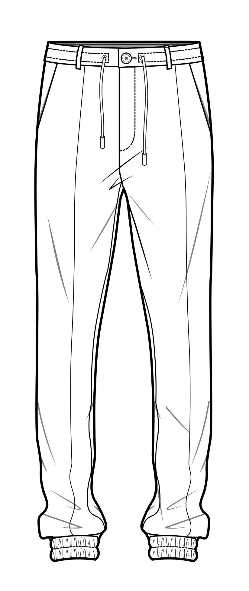 casual sweatpants flat sketches in 2019 pinterest