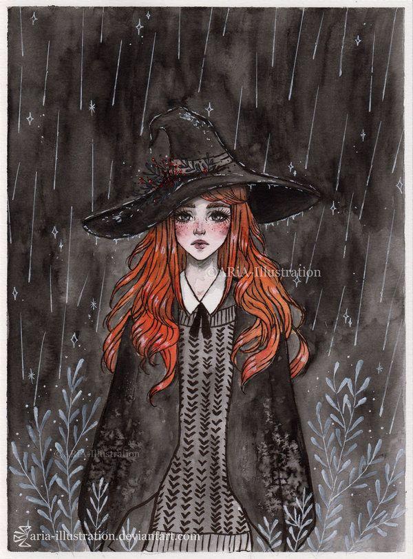 Day5 Inktober- Ginger Witch by ARiA-Illustration on DeviantArt