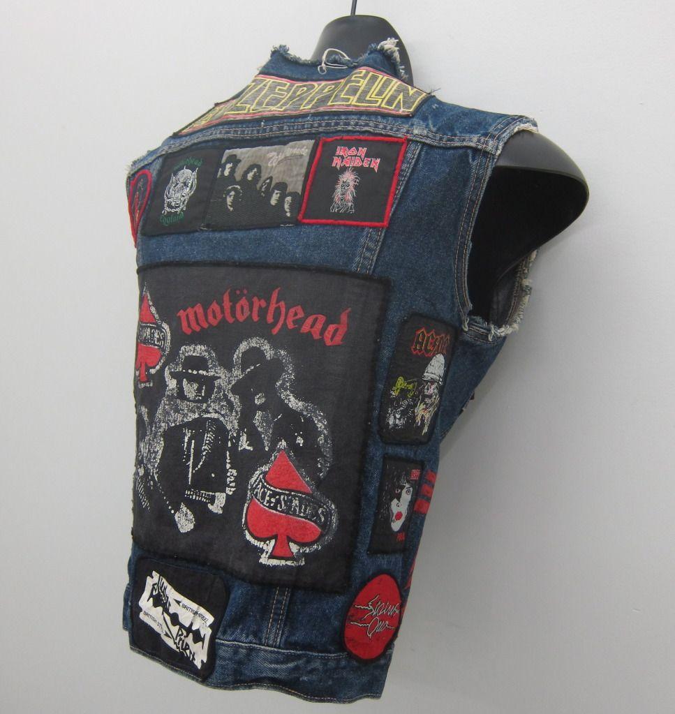 rocker denim vest 70s ORIGINAL ROCKER PATCHES PATCH