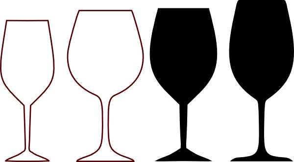 wine glass clipart wine glasses silhouette clip art vector clip rh pinterest com