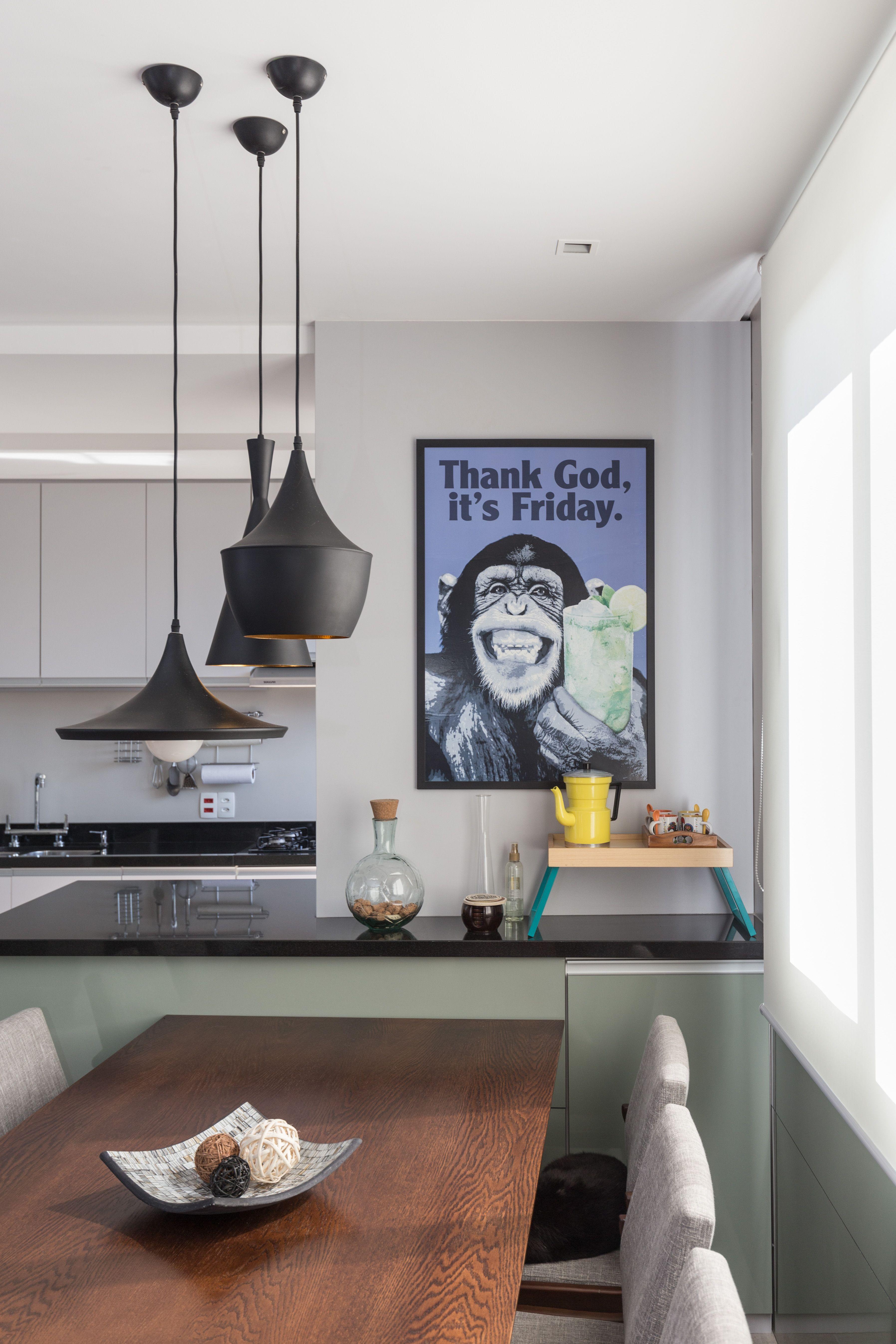 Bancada Que Une Sala De Jantar A Cozinha Rabisco Arquitetura Sala