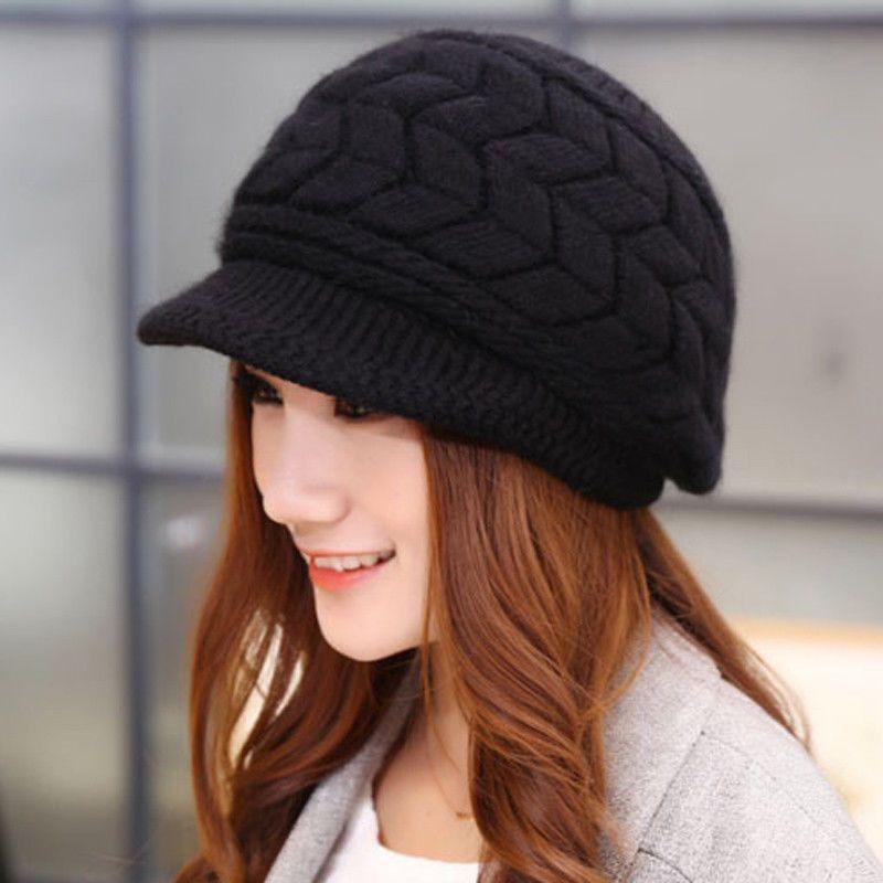 b3e77b8cd14 Lunamoon Women Winter Warm Baggy Beanie Knitted Crochet French Beret Hat  Ski Cap  fashion  clothing  shoes  accessories  womensaccessories  hats  (ebay link)