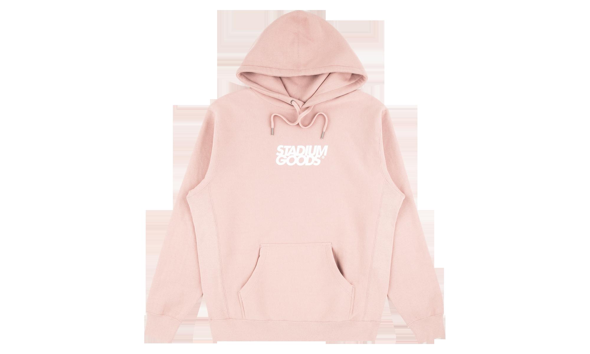 Stadium Goods Stacked Logo Hoodie Rose Pink Sgs0098 2021 Hoodies Hooded Sweatshirts Mens Activewear [ 1200 x 2000 Pixel ]