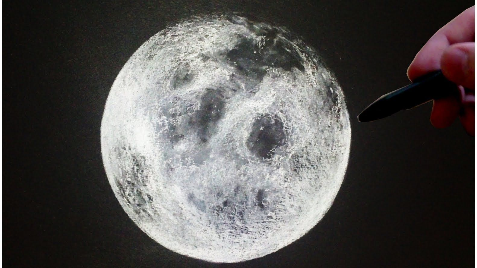 Moon Drawing White Pastel Time Lapse Moon Drawing Moon Sketches Drawing Stars