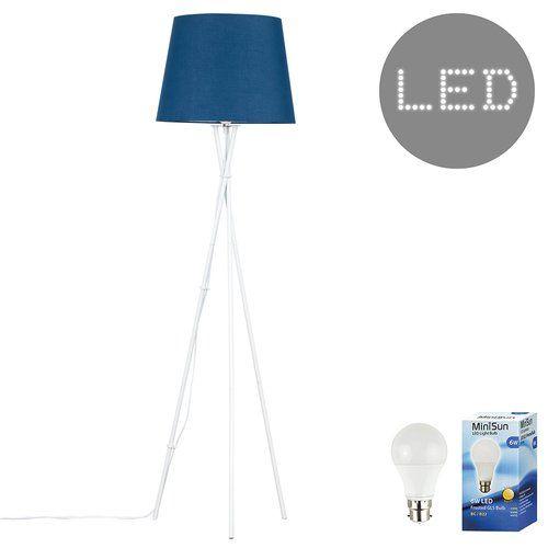 Citronelle 137cm 1 Light Swing Arm Floor Lamp Blue Floor Lamps