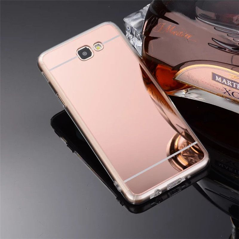 facd89ef9c1 Luxury Rose Gold Soft TPU Mirror Case For Samsung Galaxy J7 Prime On7 2016  On Nxt