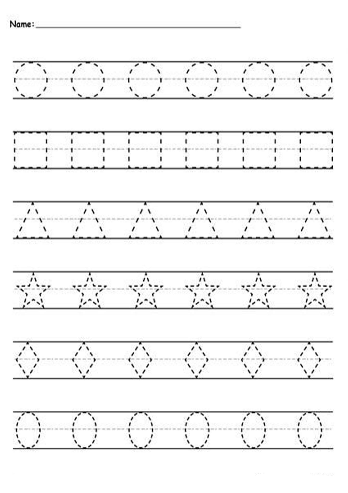 Free And Easy To Print Tracing Lines Worksheets in 2020 ...