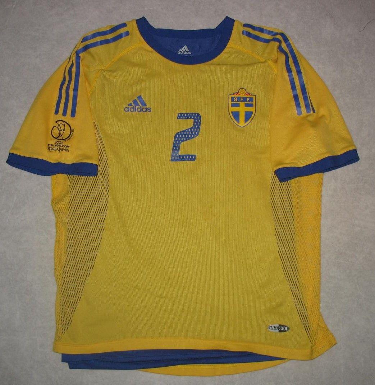 Sweden Football Shirt 2002 2004 Sweden Football Football Shirts Shirts