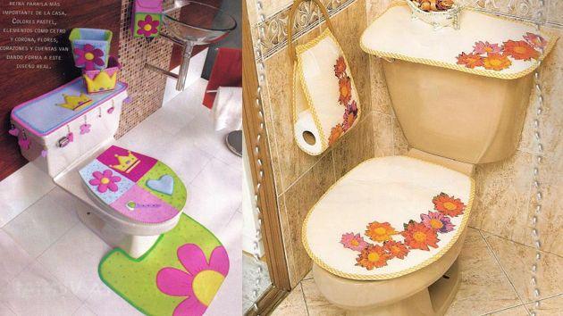 Decorando El Bano Con Materiales Reciclados Reciclar Para Decorar Forros Para Banos Materiales Reciclados