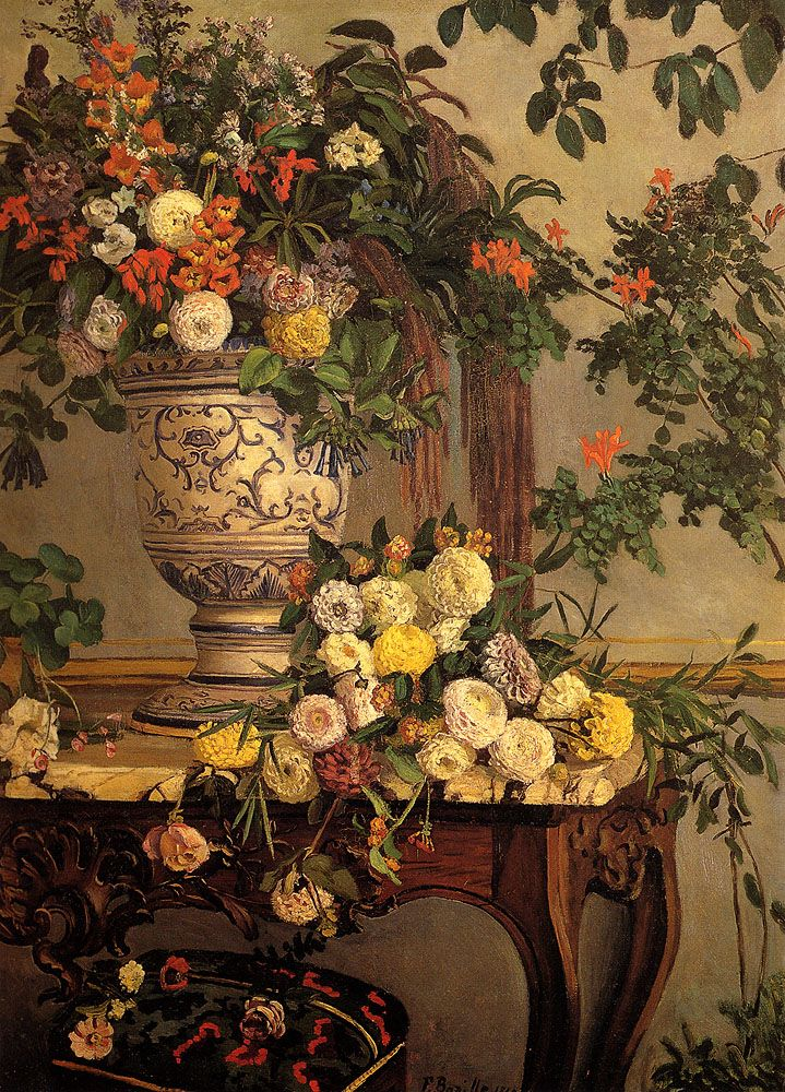 Flowers By Frederic Bazille Oilpaintings Com Flores Pintadas