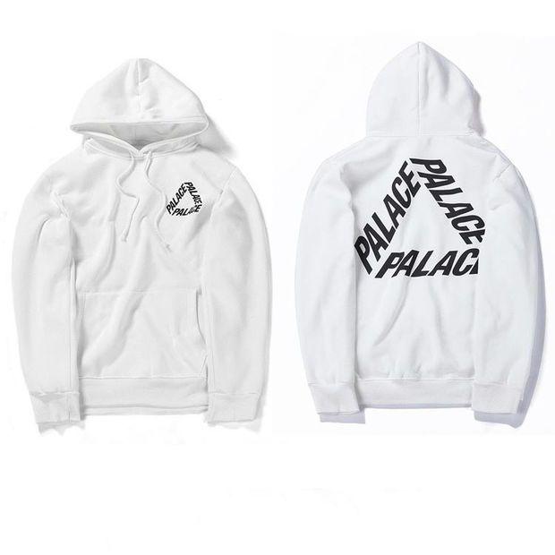 63a4a930ca7e High Quality Mens Palace Skateboard Hoodie Male 100% Cotton Triangle Sweat Palace  Sweatshirt White Palace Hoodie