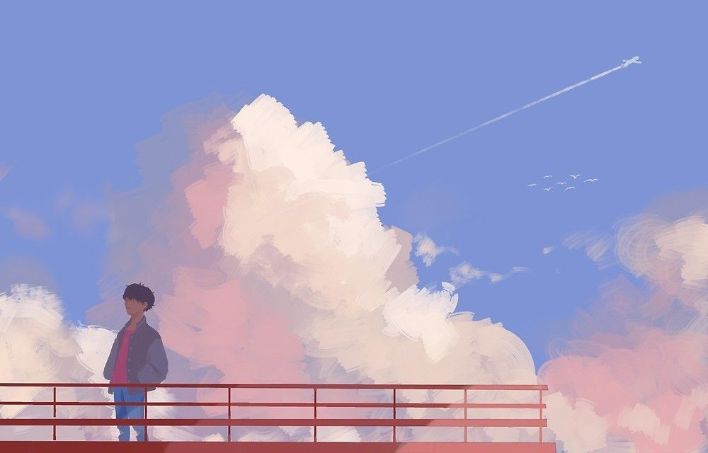 Jhope Airplane By Maitoree Airplane Jhope Maitoree In 2020 Desktop Wallpaper Art Aesthetic Desktop Wallpaper Anime Scenery Wallpaper