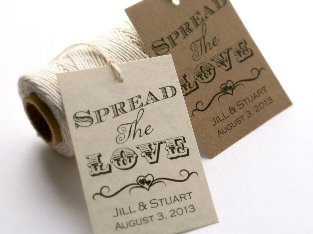 Spread the Love Tag, Editable Wedding Tag Template, PRINTABLE ...