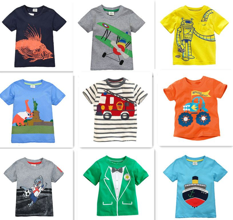 7e96c11e62b Retail Brand 2015 Children's blouse T-shirt Kids Baby boys Clothing tshirts  Summer Clothes Cartoon Dinosaur Car free shipping