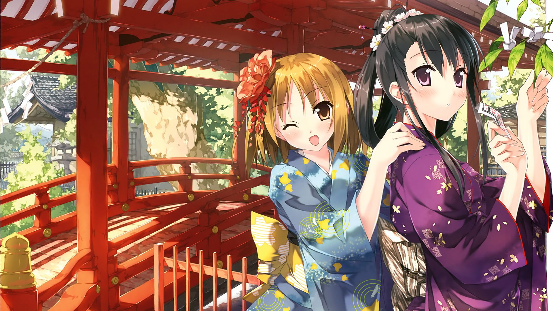Anime Original Two Girls Pretty Cute Kawaii Japanese