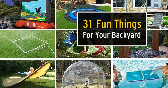 31 Ridiculously Fun Things To Do With Your Backyard This Summer  #rhondasrealestate Real Estate Articles - 31 Ridiculously Fun Things To Do With Your Backyard This Summer