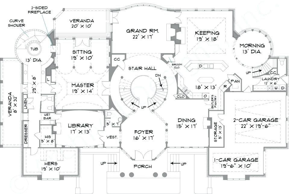 Image Result For Blueprints Mansion House Blueprints House