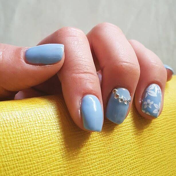 56 Ideas para que pintes tus uñas color celeste - light blue nails | Decoración de Uñas - Nail Art - Uñas decoradas - Part 2