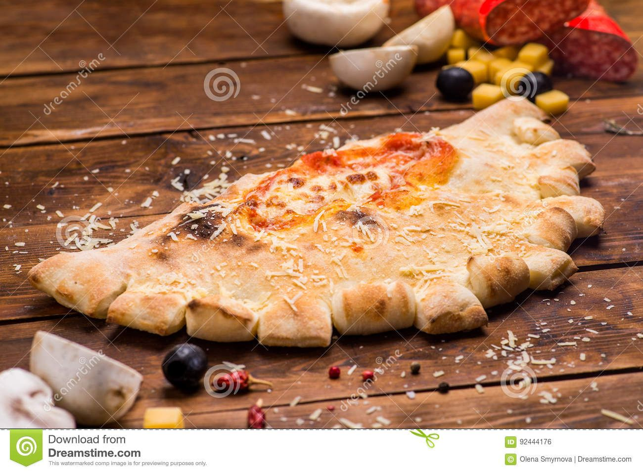 Pizza stock photo. Image of salami, pizza, pastry, bacon