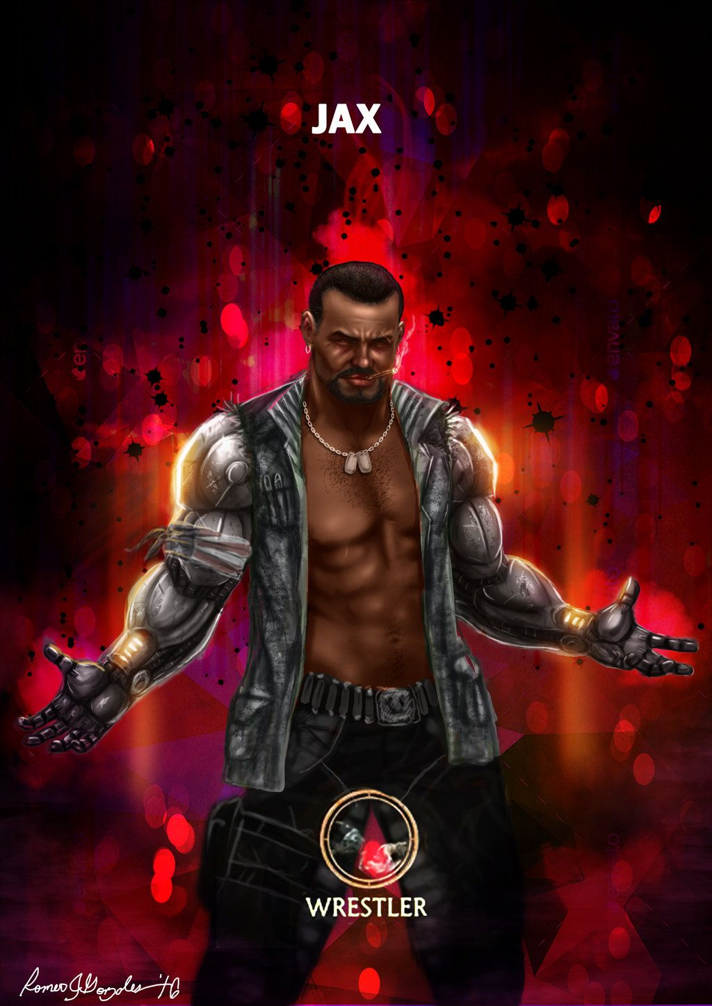 Mortal Kombat X Jax Wrestler Variation By Grapiqkad On Deviantart