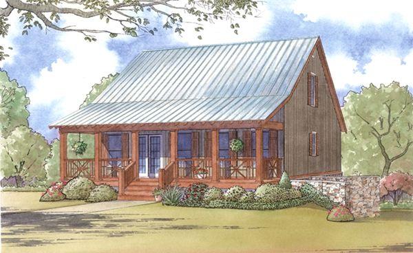 Cozy Cajun Cottage House Plans Arsitektur Rumah Mungil Rumah