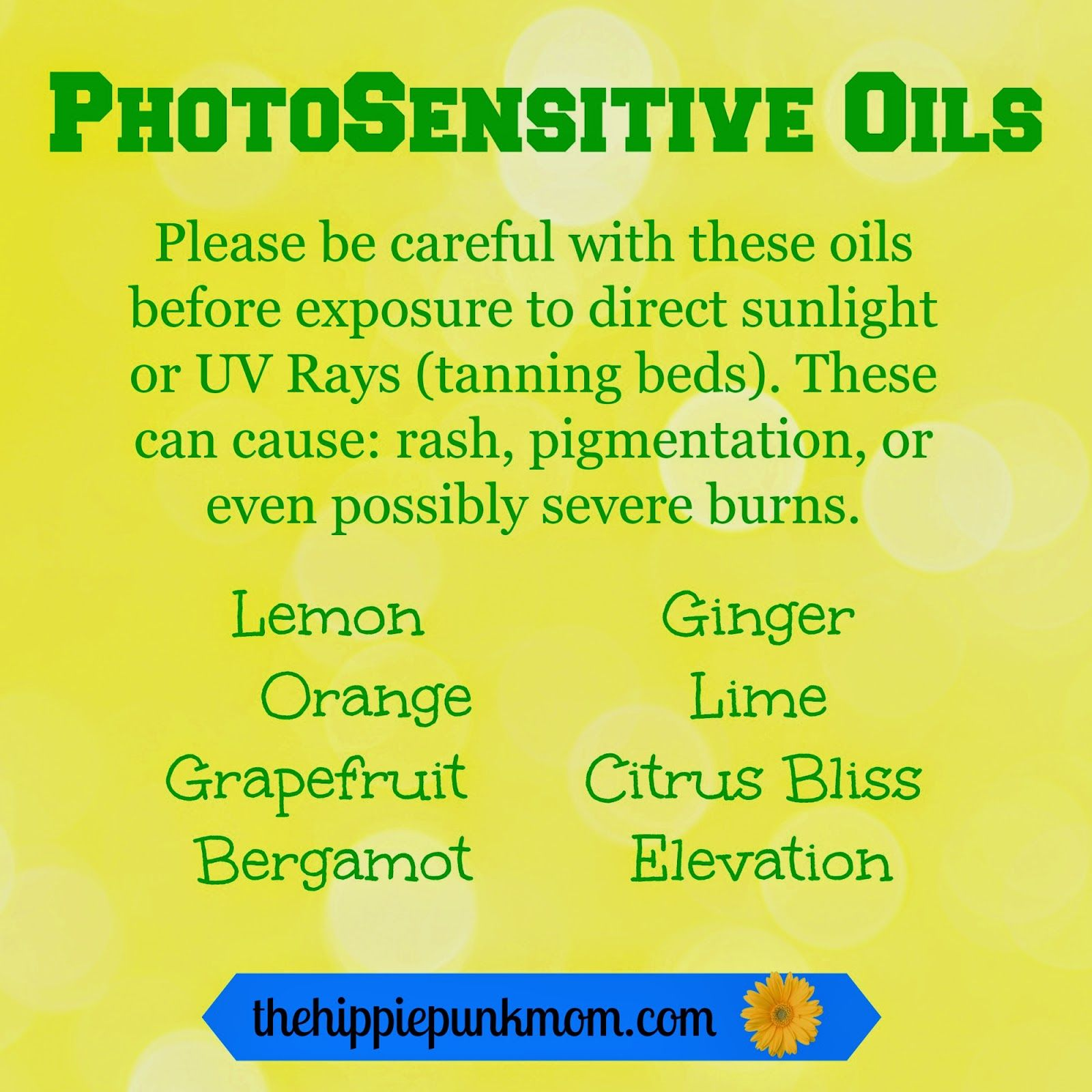 The Hippie Punk Mom: Essential Oil Safety And Useful Tips And Tricks   Photosensitive Oils