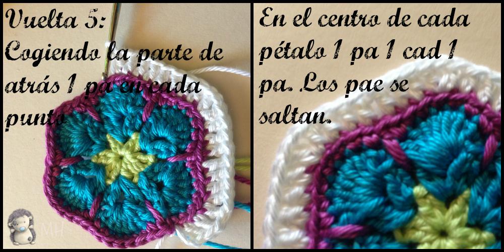 Magnífico Patrón De Crochet Hexágono Molde - Manta de Tejer Patrón ...