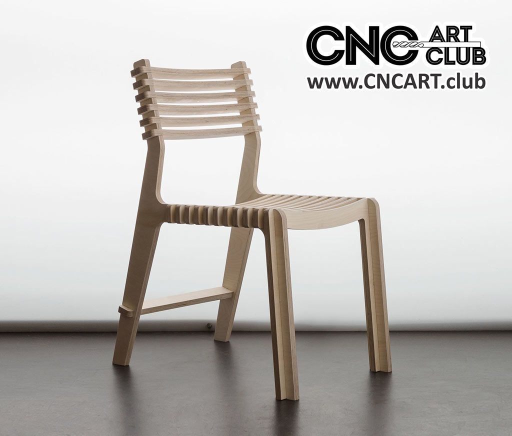 2D 30007 Elegant Chair For Cnc Work Download Dxf File | Furniture
