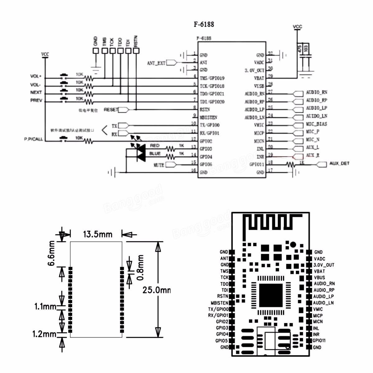 Bk L Wireless Bluetooth Stereo Audio Module