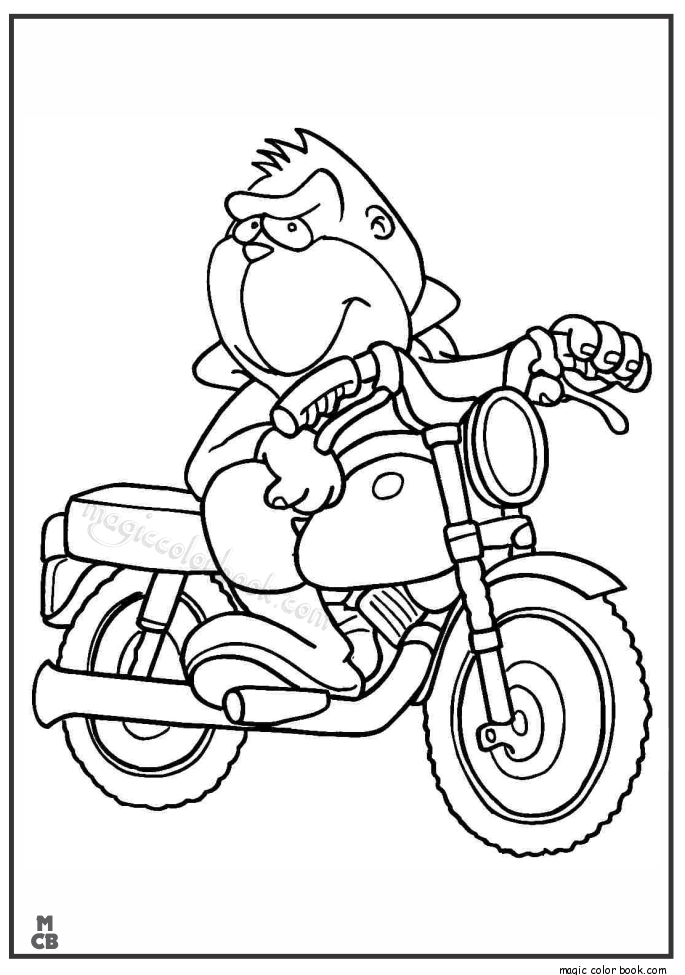 Pin by Magic Color Book on Motorcycle Coloring pages free ...