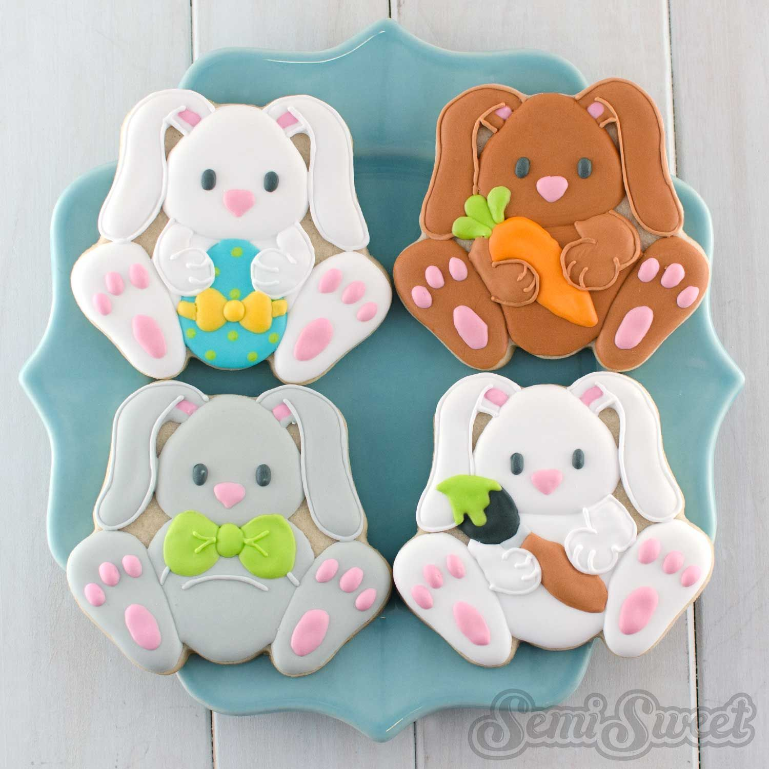 Decorated Easter Cookies and Cutters | Ostern