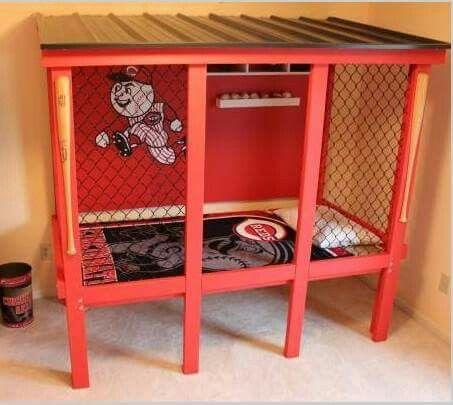 Toddler Baseball Dugout Bed
