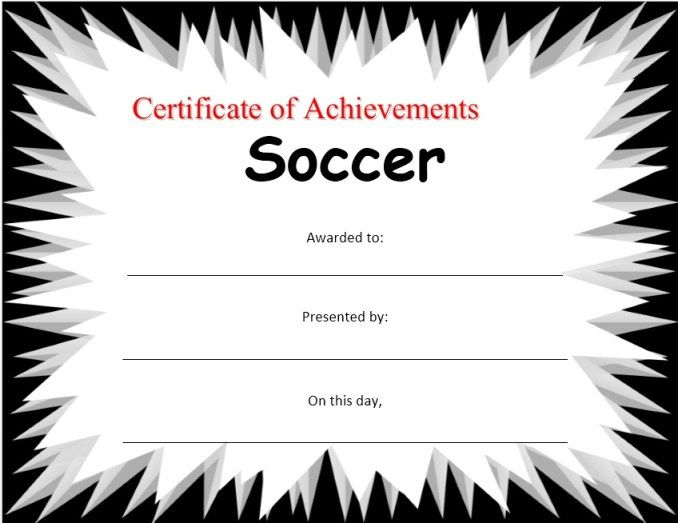 Soccer Certificate Stationary Templates Pinterest Certificate